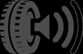EU gumiabroncs gördülési zaj ikon